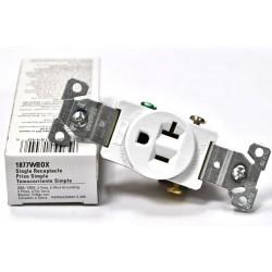 美國 COOPER 單孔插座 白色 1877W 20A 125V 冰箱 冷氣 烤箱 微波爐可用