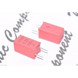 德國WIMA MKP2 0.22uF 100V 5% 腳距:5mm 金屬膜電容器 1pcs