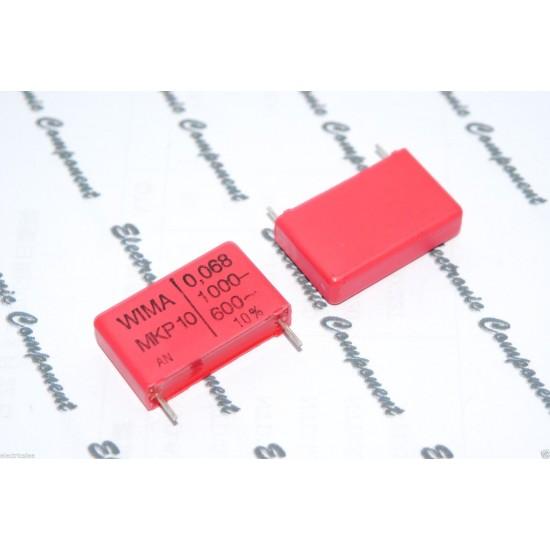德國WIMA MKP10 0.068uF(68nF) 1000V 10% 腳距:22.5mm 金屬膜電容器