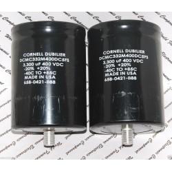 美國CDE 3300uF 400V DCMC332M400DC5FS 鎖螺絲型 濾波電容