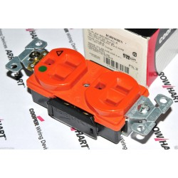 COOPER IG8200RN 橘色 15A 125V 獨立接地醫療級插座  DUPLEX型