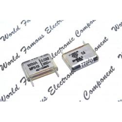 德國WIMA MP3-X2 0.022uF 250V AC 20% 腳距:15mm X2 紙質 開關 防火花 RFI 電容器