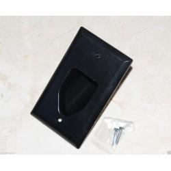 美國 COOPER 牆壁出線孔 嵌入多媒體電纜面板 35M1BK 黑色