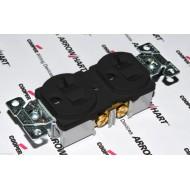 美國 COOPER 商用級插座黑色 BR20BK 125V 20A NEMA 5-20 (DUPLEX型)