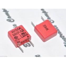 德國WIMA MKP-X2 0.033uF AC 275V 10% 腳距:7.5mm 金屬膜電容 X電容