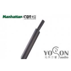 """0.5公尺-美國Manhattan/CDT 1"""" (25.7mm) 熱縮比例 2:1 黑色 軍規熱縮套管"""