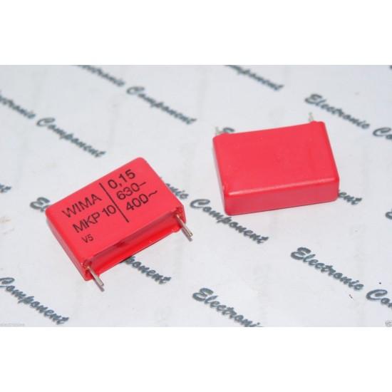 德國WIMA MKP10 0.15uF (0.15µF 150nF) 630V 20% 腳距:22.5mm 金屬膜電容器