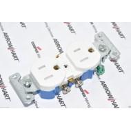 美國COOPER TR270W 15A 125V NEMA5-15 白色防誤觸電源插座 兒童房間適用 (DUPLEX型)