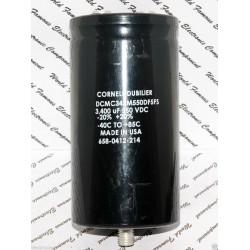 美國CDE 3400uF 550V DCMC342M550DF5FS 鎖螺絲型 濾波電容