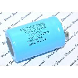美國CDE 101X173U063BB2B 17000uF 63V 電解電容 高等級 特價品