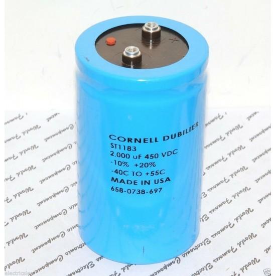 美國CDECDE 2000uF (2000µF) 450V ST1183 鎖螺絲型 濾波電容