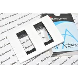 [特價中] COOPER Antares系列 30164 單聯雙開孔面板 白色