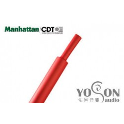 0.5公尺-美國Manhattan/CDT 3/4 (19.05mm) 熱縮比例 2:1 紅色 軍規熱縮套管