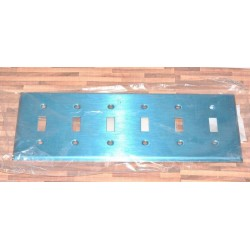 美國 COOPER 93076 六聯六切 指撥式開關 白鐵蓋板 (Toggle型)