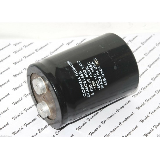 美國CDE 4700uF (4700µF) 400V DCMCE1668 鎖螺絲型 濾波電容