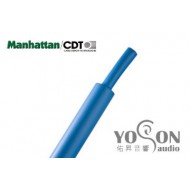 美國Manhattan/CDT 軍規熱縮套管 1/4(6.35mm) (熱縮比例 1:2) 藍色 0.5公尺1標