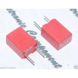 WIMA MKS2 1uF 63V 5% 腳距:5mm MKS2C041001F00JSSD 金屬膜電容 x 1