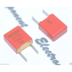 WIMA FKM2 4700P (4700pF) 100V 5% 腳距:5mm 金屬膜電容