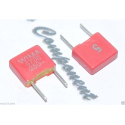 德國 WIMA FKS2 4700P (4700PF 4.7nF) 250V 5% 腳距:5mm金屬膜電容器