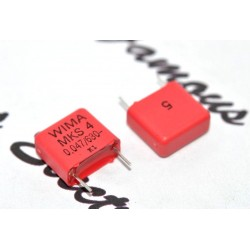 德國WIMA MKS4 0.047uF 630V 5% 腳距:10mm 金屬膜電容器