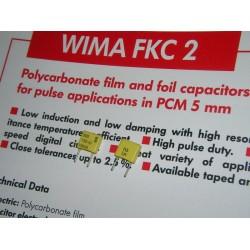 WIMA FKC2 330P 100V 腳距:5mm 金屬膜電容器