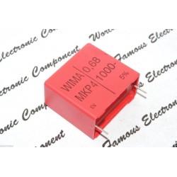 WIMA MKP4 0.68uF (0,68µF) 1000V 5% 腳距:27.5mm 金屬膜電容器