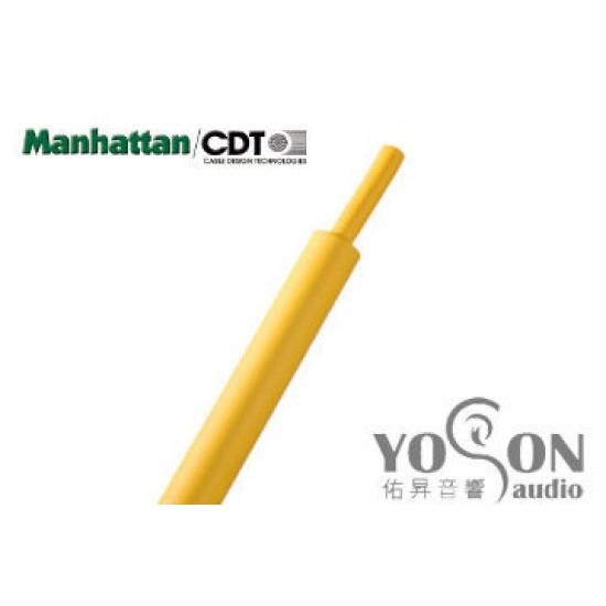 0.5公尺-美國Manhattan/CDT 1/4 (6.35mm) 熱縮比例 2:1 黃色 軍規 熱縮套管