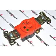 美國 COOPER 橘色單孔單聯獨立接地醫療級插座 IG8310RN 20A125VNEMA 5-20(SINGLE型)