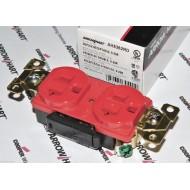 美國 COOPER 紅色高級工業級插座 AH5362RD 20A 125V NEMA 5-20R (DUPLEX型) 等級如同AH8300 只差沒醫療綠點