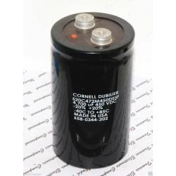 美國CDE 4700uF 450V 520C 520C472M450DE5F 鎖螺絲型 濾波電容