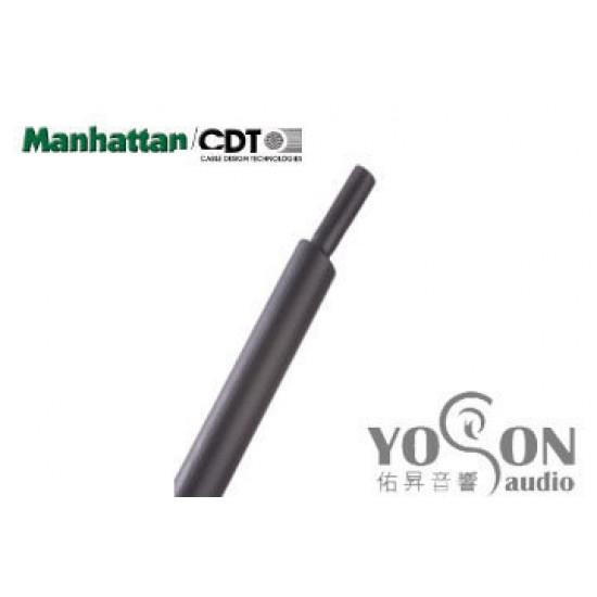 0.5公尺-美國Manhattan/CDT 3/4 (19.05mm) 熱縮比例 2:1 黑色 軍規熱縮套管
