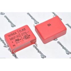 德國WIMA MKP-X2 0.68uF AC 275V 10% 腳距:22.5mm 金屬膜電容 X電容