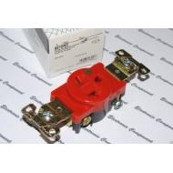 美國 COOPER 紅色單孔單聯醫療級插座 8410RD 20A 250V NEMA 6-20 (SINGLE型)