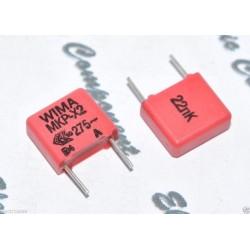 德國WIMA MKP-X2 0.022uF AC 275V 10% 腳距:7.5mm 金屬膜電容 X電容