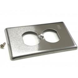 1個 - 台製 美規插座 不鏽鋼 面板 單聯2孔 雙孔 購買請先看描述頁 - 非 93101