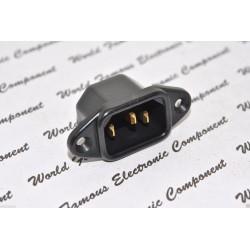 SCHURTER 6061-G IEC C14 10A 250VAC 鍍金電源公座 機箱電源座 電源座