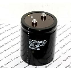 美國CDE 3300uF 400V 3186GD332M400MPC1 鎖螺絲型 濾波電容