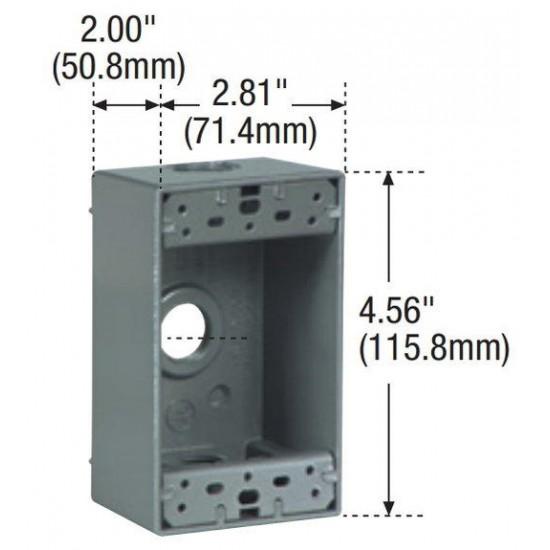 美國 EATON COOPER 插座盒 開關盒 鋁盒 LOFT / 工業風 鋁製單聯戶外防水鋁盒 底座 1116-SP 單聯蓋板面板專用