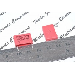 德國WIMA MKS4 0.22uF 400V 5% 腳距:15mm 金屬膜電容器