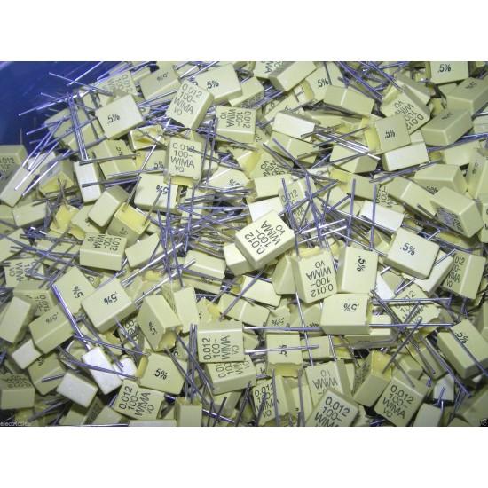 德國WIMA FKC2 0.012uF (0,012µF 12nF) 100V 5% 腳距:5mm 金屬膜電容器