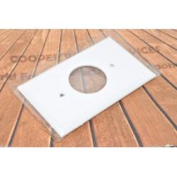 美國 COOPER 5131W 白色單孔單聯尼龍蓋板 (SINGLE型)