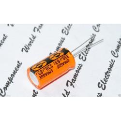 SPRAGUE 513D 330uF 63V 立式電解電容 1顆1標