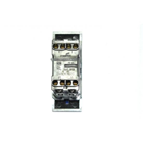 [特價中] COOPER Antares系列 30114 4-Way 15A 單切開關模組 深藍光LED指示燈 黑色