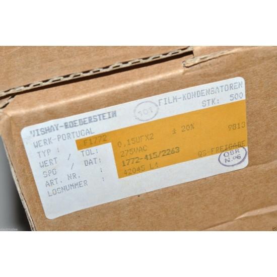 1顆-ERO MKT-X2 0.15uF 275VAC 20% 腳距:15mm X2 電容