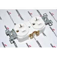 美國COOPER CR20W 125V 20A NEMA5-20 商用級插座 電源插座 白色 DUPLEX型