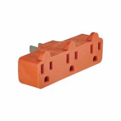 美國 COOPER 4402RN 15A 125V (NEMA 5-15R, NEMA 1-15R) 橘色 一轉三電源分接座