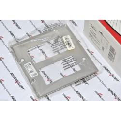 美國 COOPER 93402 方形雙聯白鐵蓋板&面板 304SS DECORATOR型 1個1標