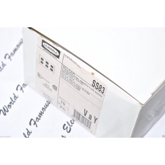 HUBBELL SS83 不鏽鋼 白鐵 三聯 3聯 蓋板 面板 (DUPLEX型)