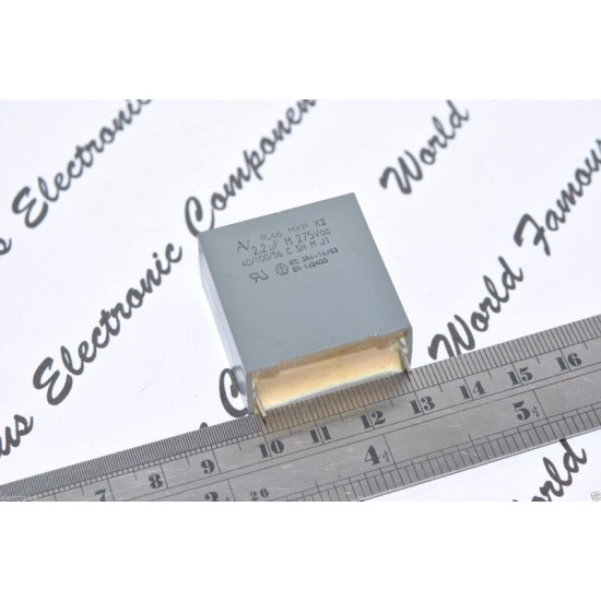 ARCOTRONICS 2.2uF 275Vac R.46 MKP-X2 腳距:27.5mm 電容 1顆1標