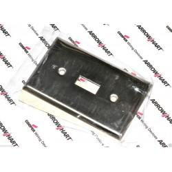美國 COOPER 93071 loft風格 指撥式單聯單切白鐵開關蓋板&面板 Toggle型